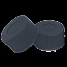 natúr PTFE/natúr szilikon szeptum, 15mm fekete csavaros polipropilén kupak,zárt