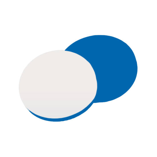 fehér PTFE/kék szilikon szeptum