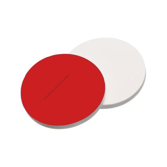 elővágott piros PTFE/fehér szilikon szeptum