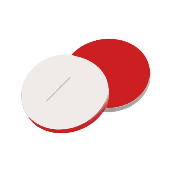 elővágott fehér PTFE/piros szilikon szeptum