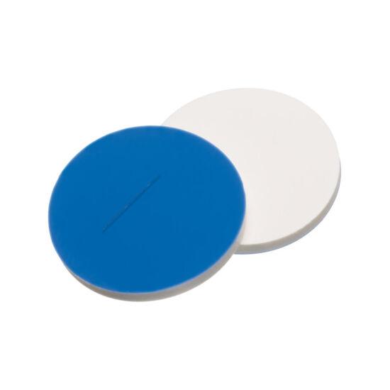 elővágott kék PTFE/fehér szilikon szeptum