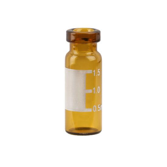 1.5mL Amber Crimp Neck Vial w/Write-on Spot