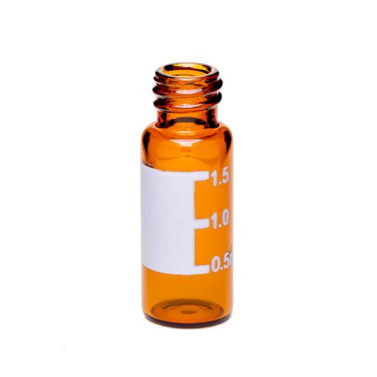 1.5mL Amber Screw Neck Vial w/Write-on Spot, 8-425 Thread