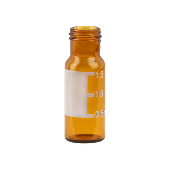1,5mL csavaros barna feliratozható vial, 9mm